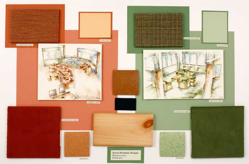 Interior design students 39 project demonstrates the value - Materials needed for interior design ...